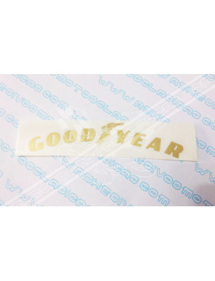 Gold GOODYEAR Sticker